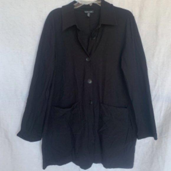 Eileen Fisher Jackets & Blazers - Black Stretch Crepe Jacket